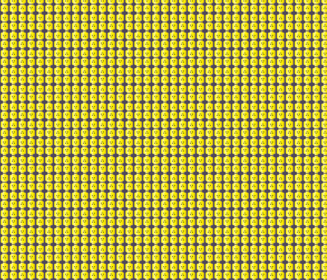 Minifig Head fabric by kahoxworth on Spoonflower - custom fabric
