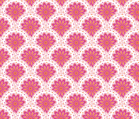 Dotty Daisy Disks fabric by siya on Spoonflower - custom fabric