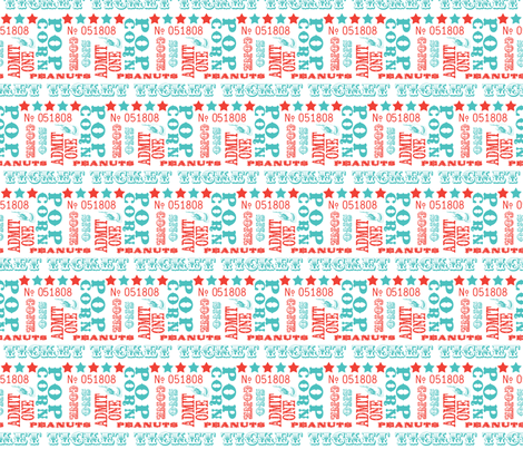 Carnival words fabric by risarocksit on Spoonflower - custom fabric