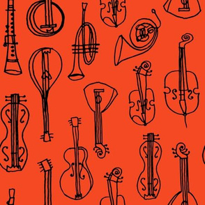 Music Instruments - Vermillion