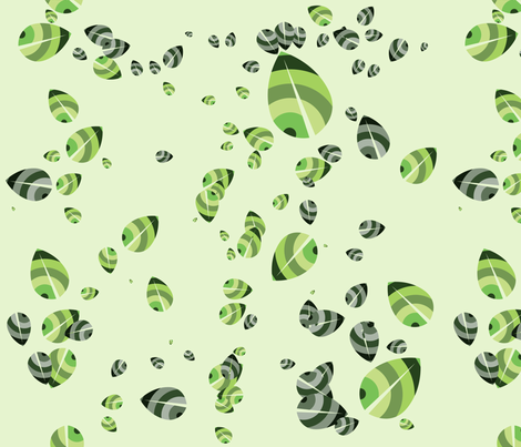 Green leaves - organic fabric by ditte-marie on Spoonflower - custom fabric