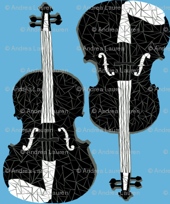 Violins - Soft Blue/Black