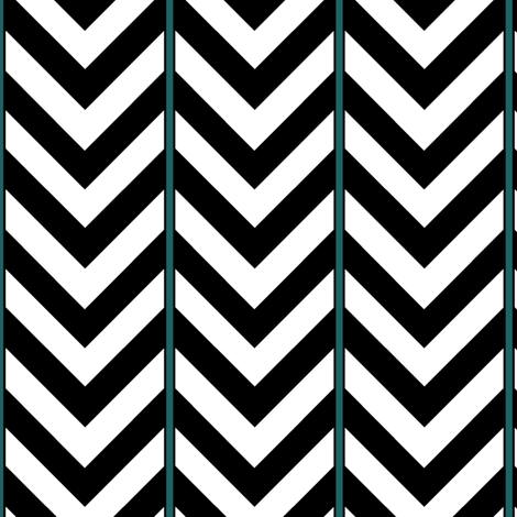 Broken Chevron with Blue fabric by pond_ripple on Spoonflower - custom fabric