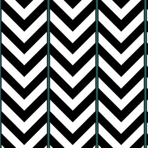 Broken Chevron with Blue