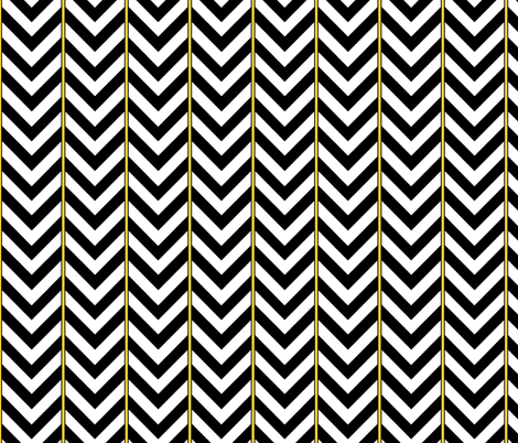 Broken Chevron with Yellow fabric by pond_ripple on Spoonflower - custom fabric