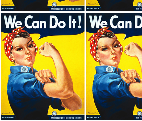 Rosie the Riveter fabric by kissedquilts on Spoonflower - custom fabric