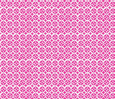 Geo  Hot Pink fabric by bzbdesigner on Spoonflower - custom fabric