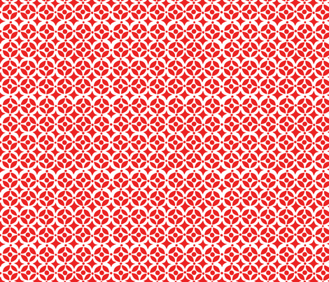 Geo Red fabric by bzbdesigner on Spoonflower - custom fabric