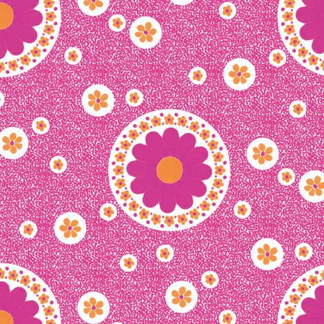 Dotty Daisies fabric by siya on Spoonflower - custom fabric