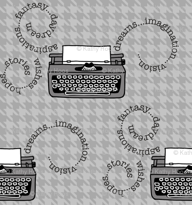 Inspired Typewriters in Houndstooth