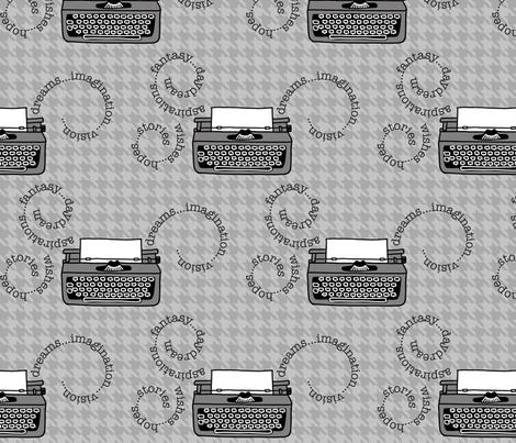 Inspired Typewriters in Houndstooth fabric by kathyhoos on Spoonflower - custom fabric