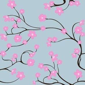 Cherry Blossoms (blue)