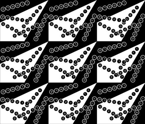 spoonflower_typewriter01_8_18_2012 fabric by compugraphd on Spoonflower - custom fabric