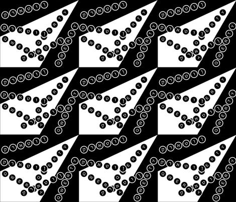 spoonflower_typewriter01_8_18_2012 fabric by compugraphd on Spoonflower - custom fabric