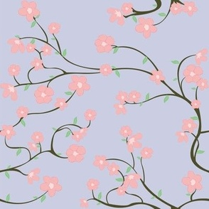 Cherry Blossoms (purple/ leaves)