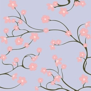 Cherry Blossoms (purple/ no leaves)