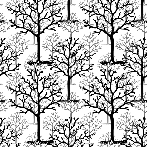 Misty Forest  fabric by peacoquettedesigns on Spoonflower - custom fabric