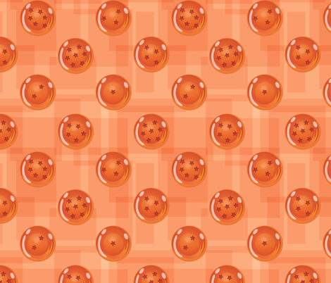 The Seven Dragon Orbs fabric by jaana on Spoonflower - custom fabric
