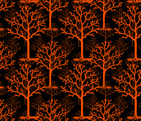 Halloweentown Forest fabric by peacoquettedesigns on Spoonflower - custom fabric