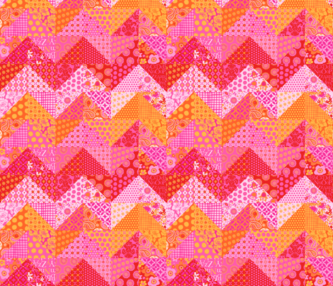 zig_zag_solid_small fabric by bzbdesigner on Spoonflower - custom fabric