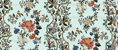 Rococo column embroideries, c. 1720-40