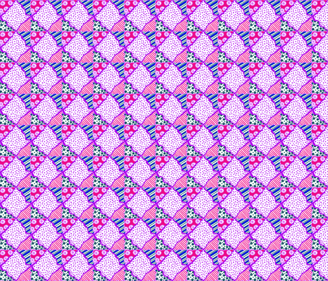 ZZ Kids CheaterQuilt: DiamondPatchwork fabric by tallulahdahling on Spoonflower - custom fabric