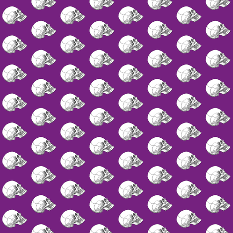 Yorick! Purple fabric by peacoquettedesigns on Spoonflower - custom fabric
