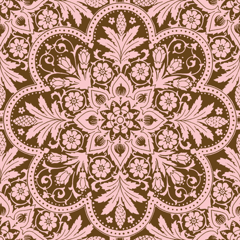 Bourgogne Tile ~ Dauphine and Sidonie fabric by peacoquettedesigns on Spoonflower - custom fabric