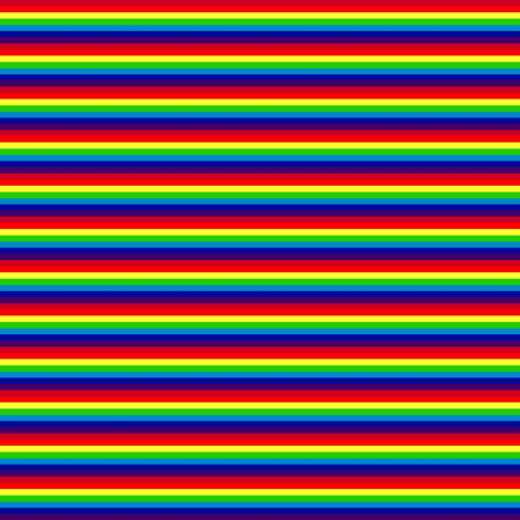 Doll Stripe Rainbow fabric by thetatterpunk on Spoonflower - custom fabric