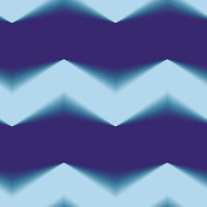 Blue 3d Chevron and Bands