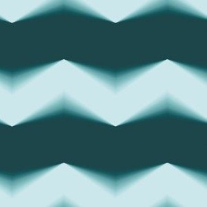 Light Teal Green 3d Chevron and Forest Green Bands