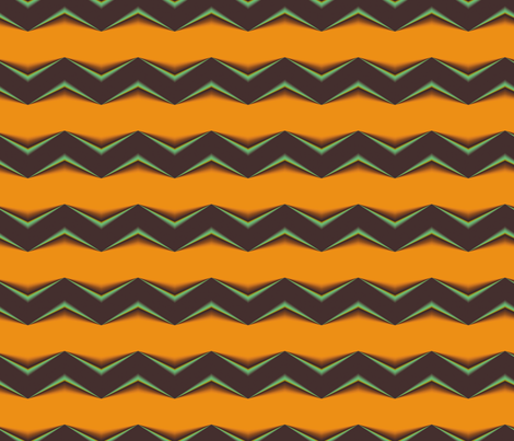Chocolate Brown 3d Chevron and Burnt Orange Bands fabric by animotaxis on Spoonflower - custom fabric