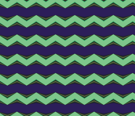 Lime Moss 3d Chevron and Blue Bands fabric by animotaxis on Spoonflower - custom fabric