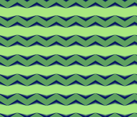 Lime Green 3d Chevron and Emerald Green Bands fabric by animotaxis on Spoonflower - custom fabric