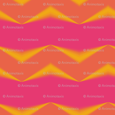 Golden Orange 3d Chevrons and Hot Pink Bands