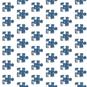 Paper Doll Puzzle Piece
