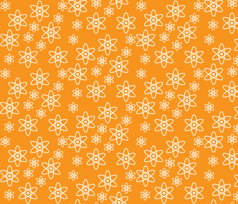 Atomic Orbits (Orange) fabric by robyriker on Spoonflower - custom fabric