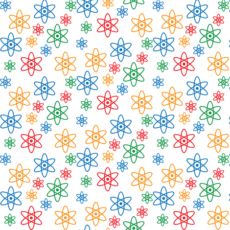 Atomic Orbits (Ditsy) fabric by robyriker on Spoonflower - custom fabric
