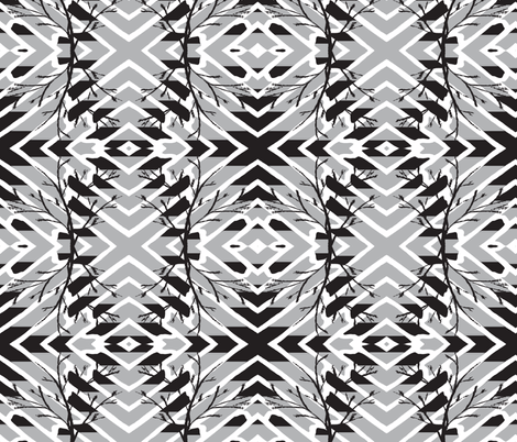 ZIGGY FOREST CHEVRON fabric by bluevelvet on Spoonflower - custom fabric