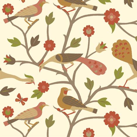 Persian Birds 613d fabric by muhlenkott on Spoonflower - custom fabric
