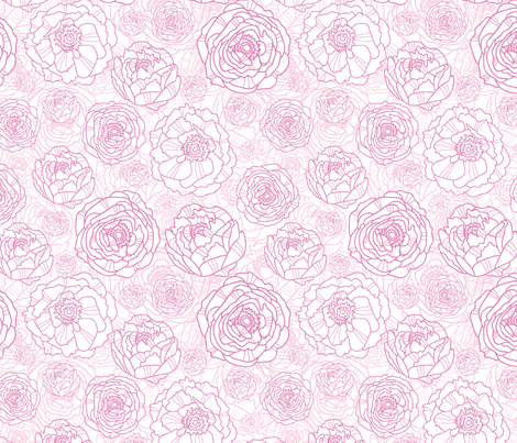 Draw Me Flowers fabric by oksancia on Spoonflower - custom fabric