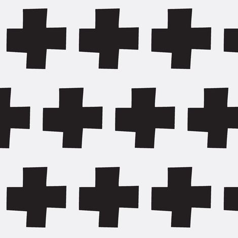 black cross  fabric by tagkari on Spoonflower - custom fabric