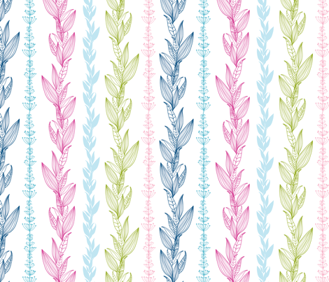 Floral Stripes fabric by oksancia on Spoonflower - custom fabric
