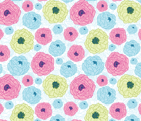 Flower Hill fabric by oksancia on Spoonflower - custom fabric