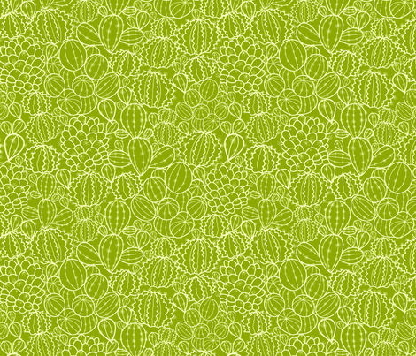 Cactus Plants fabric by oksancia on Spoonflower - custom fabric