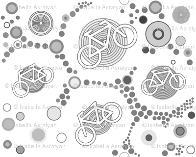little bicycles in grey