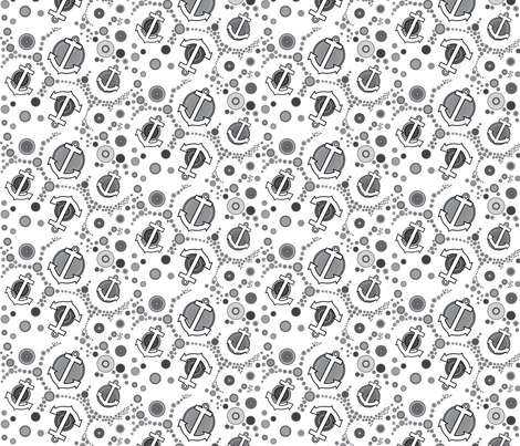 little anchors fabric by isabella_asratyan on Spoonflower - custom fabric