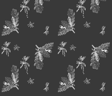 oak in gray fabric by isabella_asratyan on Spoonflower - custom fabric