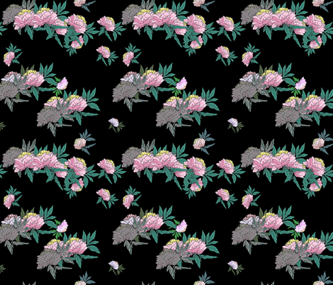 peonies fabric by isabella_asratyan on Spoonflower - custom fabric
