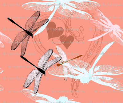 love, hearts and dragonflies